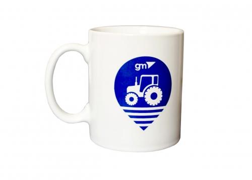 Чашка фирменная с логотипом GPS geometer