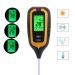 Аналізатор грунту 4в1: PH-метр/вологомір/термометр/люксметр