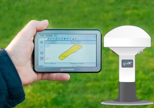 GPS комплект для вимірювання площі ГеоМетр S5 new GM Spike