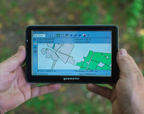 GPS device for measuring fields  area GeoMeter S7