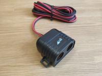 Разветвитель прикуривателя 12/24V на два гнезда от аккумулятора