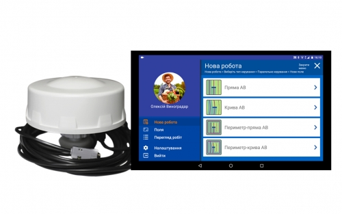 Приемник GM Target + лицензионная программа geotrack на ваш планшет (агронавигатор, параллельное вождение)